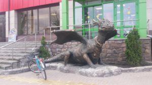 Скульптура из Бетона Дракон