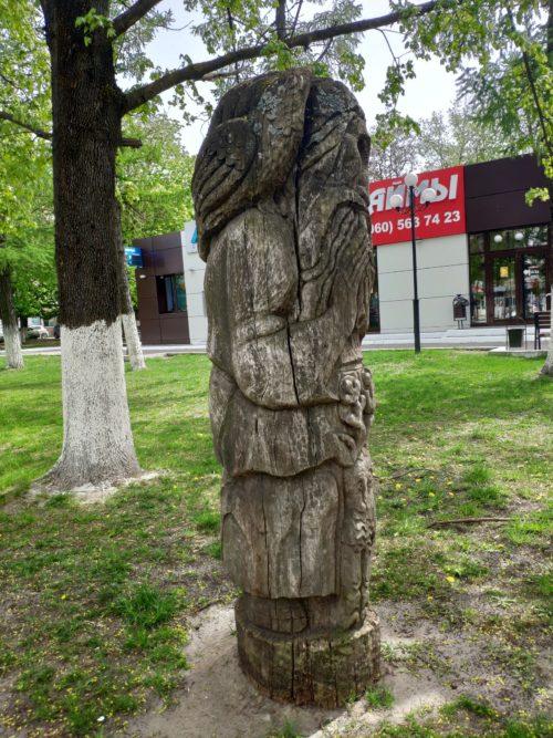 деревянная скульптура пастух