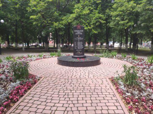 Памятнтик погибшим в Чечне. Клинцы.