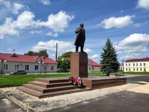 Памятник Ленину в городе Мглин Брянской Области. Достопримечательность