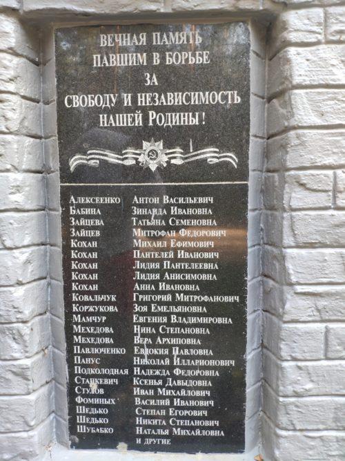 Братская могила патриотов-подпольщиков