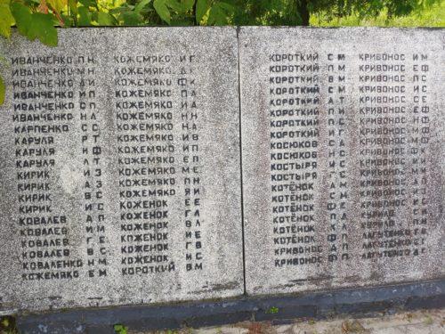 Памятник ВОВ Кулаги мемориал Суражский Район