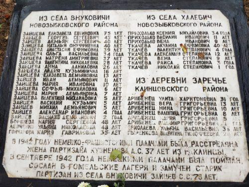 мемориал ВОВ Клинцы семьям партизан