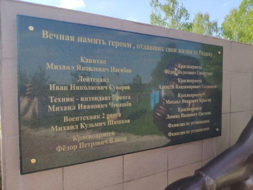 Малая Топаль Мемориал ВОВ
