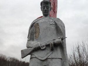 Мемориал в честь великой Отечественной Войны. Клинцовский район. Ущерпье. Памятник.