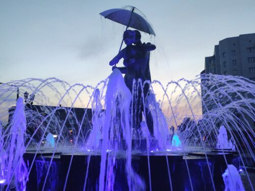 Фонтан «Вальс дождя». Клинцы.