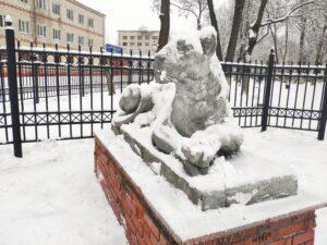 Львы Стародуб Скульптуры у Парка Рубцу