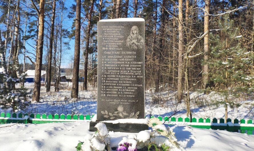 Братская могила военнопленных и патриотов-подпольщиков. Вьюнки.