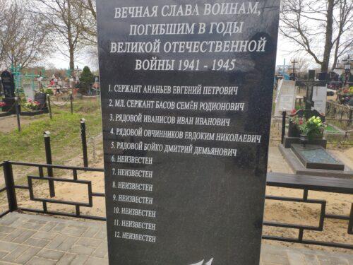 Братская могила 12 Советский воинов погибших в годы Великой Отечественной Войны