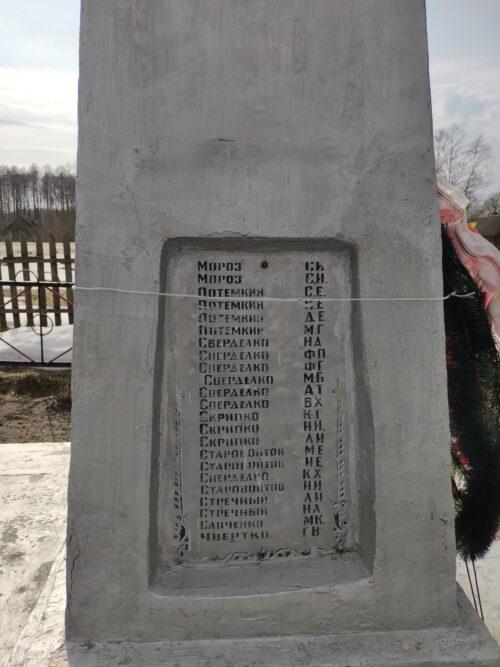 Памятник советским воинам, погибшим в годы Великой Отечественной войны Коробоничи