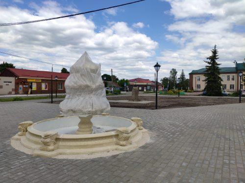 Фонтан в городе Злынка Брянской области
