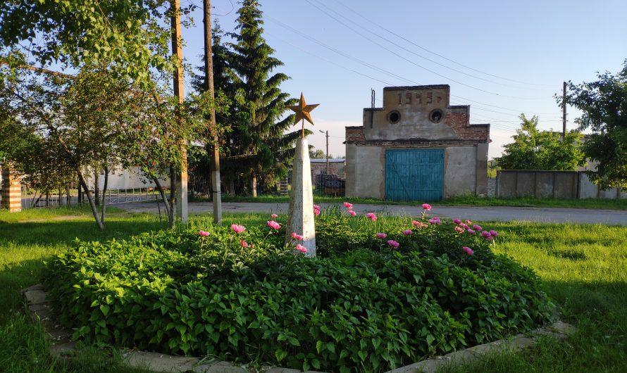 Памятник 50 лет октябрьской революции. Оболешево