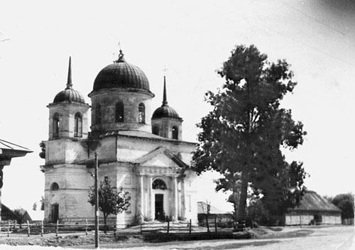 Церковь Успения Пресвятой Богородицы (1798 г.) в с. Медвёдово. Фото начала 1960-х гг.